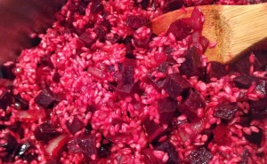 beet_risotto_cooking